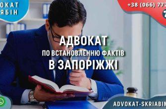 Адвокат по встановленню фактів в Запоріжжі