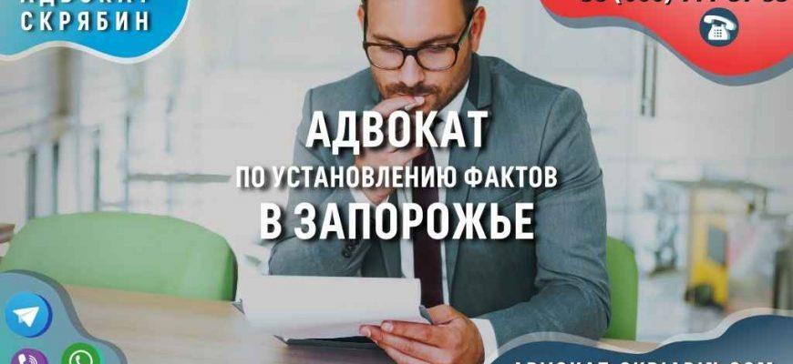 Адвокат по установлению фактов в Запорожье
