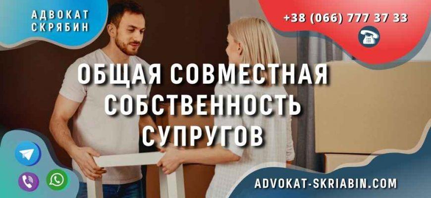 Общая совместная собственность супругов