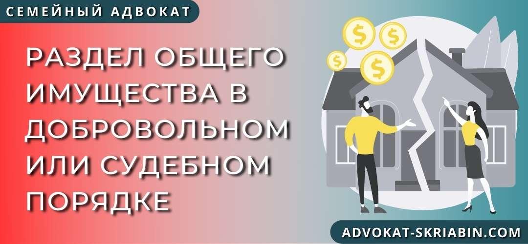 Раздел общего имущества в добровольном или судебном порядке