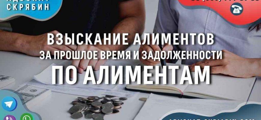 Взыскание алиментов за прошлое время и задолженности по алиментам