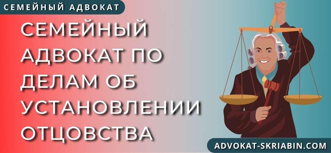 Семейный адвокат по делам об установлении отцовства