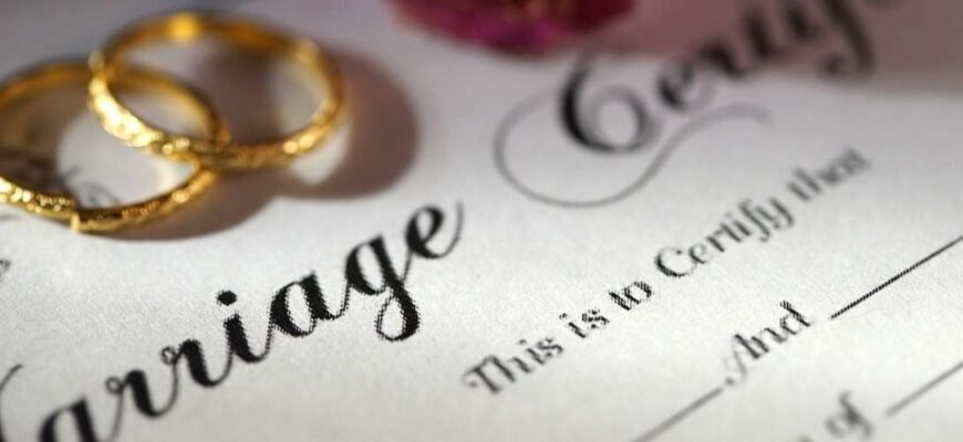 Certificate of divorce based on a court decision