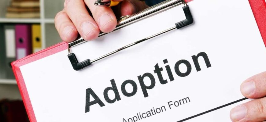 Application for adoption of a child
